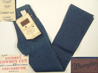 lgp644 w25 Wrangler boot cut denim jeans dead American clothes