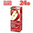 エルビーフルーツセレクション アップル100 【200ml×24本入】紙パック〔果汁100% フルーツジュース りんごジュース〕