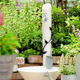 【水栓柱】【立水栓】上品な大人の可愛さ。立水栓「フルール」【水栓柱+ガーデンパン+蛇口2個セット】お庭をスタイルを選ばないシンプルなカタチです【】