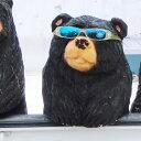 【木彫り】チェーンソーアートで創るクマの置物「GONTAKU連」!可愛い!アメリカンハウス、ログハウスにもおすすめ【置物】【オブジェ】【ガーデン】【ログハウス】【送料無料】