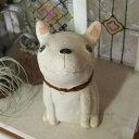 【犬 置物 陶器】【ガーデン オブジェ】手乗りサイズの陶器の置物「うちのわんこ チワワ お座り」お庭にも飾れる可愛い犬のオーナメント【プレゼント】【贈り物】