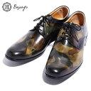 ショッピング迷彩 BajoLugo バジョルゴ おとこのブランドHEROES 掲載 プレーントゥ スニーカー シューズ レザー 靴 カモフラージュ レザー 迷彩 アンティーク仕上げ MENS メンズ 送料無料