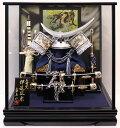 送料無料 五月人形 兜ケース飾り寿慶 金龍伊達兜 シルバー
