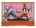 雛人形 ケース飾り ケース ひな人形送料無料寿慶 コンパクト茶塗ケース 満開桜
