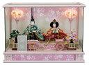 雛人形 ケース飾り ケース ひな人形送料無料寿慶 七海 ピンクパノラマケース