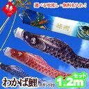 こいのぼり ベランダ セット 鯉のぼり スタンド付ベランダ用 わかば 1.2mセット
