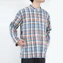 【送料無料】【メンズ新品】CORRIDOR (コリドー) TEAL MADRAS CHECK POPOVER マドラスチェックバンドカラーシャツ TEAL [NEW]
