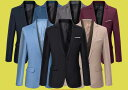 二枚送料無料/スーツジャケット紳士メンズ/トップス ビジネススーツコート/スリムスーツ ウォッシャブル/結婚式通勤用7色入