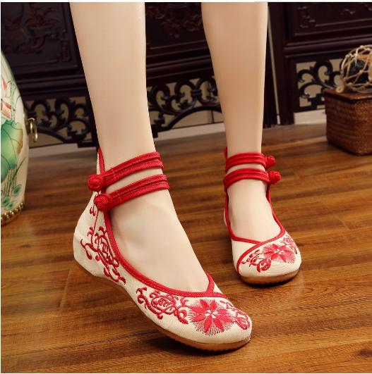 ハンドメイド♪エスニック チャイナ靴 チャイナシ...の商品画像