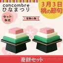 デコレコンコンブル ひなまつり 菱餅セット decole c...