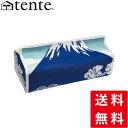ティッシュカバー/ティッシュケース/テンテ/TENTE ティッシュボックスカバー富士山(Fujiyama):ブルー おしゃれなティッシュカバー。 壁掛けできるテ...