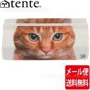 [メール便送料無料] テンテ/TENTE ティッシュボックスカバーANIMAL FACE:トラネコ虎猫のおしゃれなユニセックスデザイ…