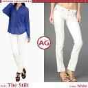 【jg】【 AG Jeans 】 エージー ジーンズ The Stilt ホワイトデニム 上品な ストレート シルエットが人気の デニム セレブ愛用 ブランド 新作 雑誌掲載多数