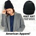 アメリカンアパレル ニット帽 America