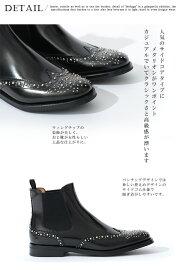 【送料無料】チャーチChurch'sレディースショートブーツサイドゴアスタッズKetsbyMetBlackPolishedBinderカーフレザーブラックサイズ36/36.5/37/37.5/38/38.5モードなデザイン上質レザー使用革靴即日発送