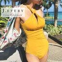 レディース 水着 クロス ホルターネック モノキニ ビキニ バッククロス ビーチウェア スイムウェア ビーチ プール 体型カバー シンプル ブラック イエロー 黒 黄色 J.EVERY ジェイ.エヴリー 大人 カワイイ 上品 おしゃれ 可愛い トレンド 春 夏