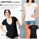 [JAMES PERSE James Perth / James Perth] short sleeve T-shirt Kate Moss and Nicole Richie habitual use brand [GINGER separate volume 2013SS] of the V neck T-shirt Relaxed Casual Tee Shirt tender cotton cloth [fsp2124] [jg] [メ]