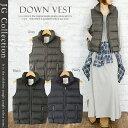 【jg】【 JG Collection 】 ダウンベスト Down Vest ダウン、フェザーをたっぷり使用♪ 保温性抜群 軽量 ダウンベスト JG コレクション