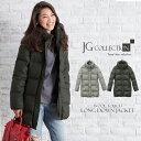 【送料無料】 ダウンコートレディース ダウンジャケット ロング JG Collection ダウンコート Wool Touch Long Down Jacket チャコール/グレー Sサイズ/Mサイズ 長袖 JGコレクション