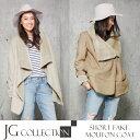 【送料無料】 コート レディース アウター JGコレクション Shawl Collar Mouton Coat レディースコート フェイクムートン JG Col...