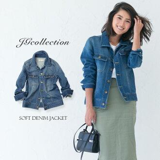 牛仔夾克女式牛仔夾克 JG 集合軟牛仔夾克軟牛仔夾克 G 吉恩-彈簧外成人強迫症,風格上衣外牛仔夾克 JG 集合航運