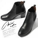 ミオノティス ブーツ ブーティー サイドゴアヒール 本革 レザー ブラックmionotis Side Gore Heel Short Boots即日発送 【送料無料】【あす楽】