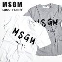 MSGM レディース Tシャツ ロゴプリント ロゴ エム エ...