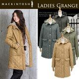 【jg】MACKINTOSH マッキントッシュ キルティングコート コート グランジ 《 GRANGE 》ボアが施された裏地で防寒性ばっちり♪ フード が付いたカジュアルなデザイン