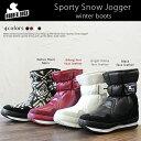 【sk】【 RUBBER DUCK 】 ラバーダック 2013 新作 スノーブーツ Sporty Snow Jogger ( Native ) フェイクレザー 、 ネイティブ ファブリック ウィンターブーツ♪ マジックテープで着脱も簡単! 雑誌掲載