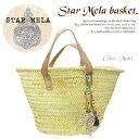 【jg】【 STAR MELA 】 スターメラ バッグ / かご バッグ Star Mela basket ブランドロゴ 入り キーホルダー が可愛い スターメラ ウッドキューブ かごバッグ / バスケット  雑誌掲載