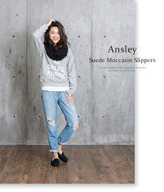UGGアグシープスキンスエードモカシンローファー《AnsleySuedeMoccasinSlippers》