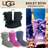 【送料無料】 UGG アグ ムートンブーツ クラシック コレクション リボン ショート ベイリーボウ BAILEY BOW バック の リボン が大人可愛い ふわふわの シープスキン で快適な履き心地を実現 革靴