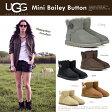 【送料無料】 正規品UGG アグ 上質 シープスキン ベイリーボタン ミニ ムートンブーツ Mini Bailey Button 厚みのあるボアが暖かい ムートン ブーツ セレブ愛用ブランド UGG 定番 革靴
