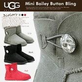 【送料無料】 UGG アグ 上質 シープスキン ミニ ベイリーボタン ブリング ムートンブーツ クリスタル ボタン Mini Bailey Button Bling 厚みのあるボアが暖かい ムートンブーツ セレブ愛用ブランド 革靴
