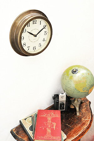 【ウォールクロック 壁掛け時計 壁付 レトロ アンティーク調 アンティーク風】ブラスティー ウォールクロック