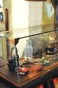 【コレクション ガラスケース 木製 ショーケース ディスプレイ アクセサリー アンティーク調 アンティーク風】WOODベース コレクションケース L