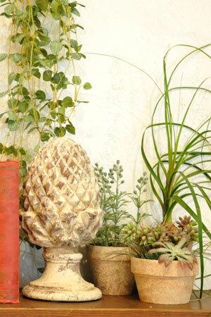 【オブジェ 置物 ガーデン アーティチョーク おしゃれ 陶器 インテリア 雑貨 カフェ ショップ アンティーク調 アンティーク風】アウラ アーティチョーク