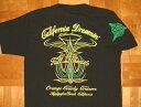 FULL THROTTLE/フルスロットル コットン生地 ホットロッド柄 半袖Tシャツ ≪CALIFORNIA DREAMIN'≫ (BLACK×GREEN) Teeシャツ ピンストライプ バイカー ローライダー チカーノ アメ車 ブラック グリーン 黒 緑 ジャマイカンカラー ラスタカラー メンズ