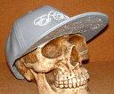 """楽天JUNK HOUSE WESTCHIPPS COMPANY/チップスカンパニー 限定!""""ニューエラキャップスタイル"""" 3D立体刺繍入り ベースボールキャップ ≪EL CHIPPS≫ (GRAY) バイカー ホットロッド チカーノ ヒップホップキャップ NEWERACAP BBキャップ 野球帽子 フラットバイザータイプ グレー"""