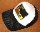 CHIPPS COMPANY/チップスカンパニー 「PEACE CAP/ピースキャップ」 アメカジ!ビンテージ加工 刺繍ワッペン付き メッシュキャップ (WHITE×BLACK) ベースボールキャップ 帽子 USED加工 クラッシュ加工 バイカー ホットロッド ブラック 黒 ホワイト 白
