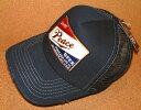 PEACE CAP ピースキャップ アメカジ スタイル ビンテージ加工 刺繍 ワッペン付き メッシュキャップ キャップ (NAVY×NAVY) ベースボールキャップ 帽子 USED加工 クラッシュ加工 バイカー ホットロッド ネイビー 紺