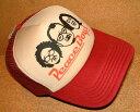 CHIPPS COMPANY/チップスカンパニー 「PEACE CAP/ピースキャップ」 アメカジ! プリント入り メッシュキャップ (BEIGE×WINE RED..