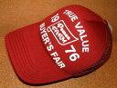 CHIPPS COMPANY/チップスカンパニー 「PEACE CAP/ピースキャップ」 アメカジ! プリント入り メッシュキャップ (WINE RED/ワインレッド) ベースボールキャップ 帽子 バイカー ホットロッド 赤