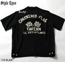"""No.SE37211 STYLE EYES スタイルアイズROYON BOWLING SHIRTW/CHAIN EMB'D""""CHECKERED FLAG"""""""