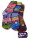 【1枚迄メール便OK】Solmate Socks(ソルメイトソックス) Adult Cotton Socks ☆左右非対称マルチカラーソックス【小物 メンズ 靴下 レギンス スパッツ サンダル 重ね着 レイヤード アウトドア アンダーウエア あす楽】