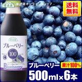 順造選 ブルーベリー100(果汁100%ストレートブルーベリージュース)500ml×6本入りセット【】【smtb-k】【w1】【楽ギフ包装】【楽ギフのし】【10P10Nov13】【