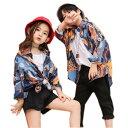 キッズ ダンス衣装 ヒップホップ HIPHOP 花柄シャツ Tシャツ ズボン 練習着 男の子 女