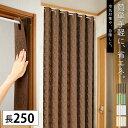 パタパタカーテン アコーディオンカーテン 100×250cm つっぱり 間仕切り カーテン 仕切り 冷気 遮断 突っ張り棒 階段 ブラウン グリーン ホワイト ベージュ 新生活