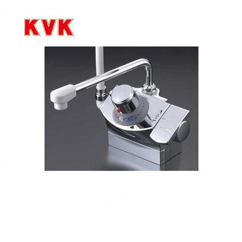 [KF821GR]KVK 浴室水栓 シャワー水栓 サーモスタットシャワー金具 デッキ形(台付き)  シャワー左側 取付ピッチ100mm 逆止弁 快適節水シャワー 取付穴径(mm):φ22~φ24 蛇口 【送料無料】 デッキタイプ おしゃれ お買い得価格!浴室水栓 KVK KF821GR超低価格