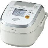炊飯器 象印 NP-WA10-WP[NP-WA10-WP] 象印 炊飯器 圧力IH炊飯ジャー 極め羽釜 かまどヒーター 炊飯容量:0.09?1.0L(0.5?5.5合) 空気断熱層 広く浅い内釜 プラ